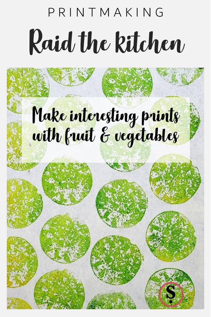 Raid the kitchen | Make interesting prints with fruit & vegetables
