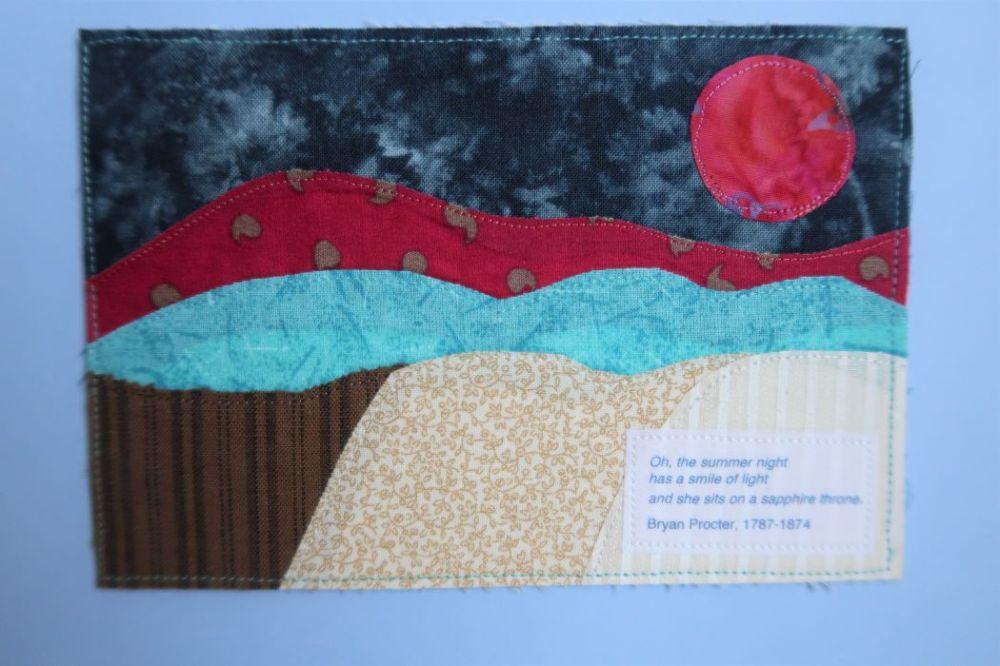 Fabric postcard