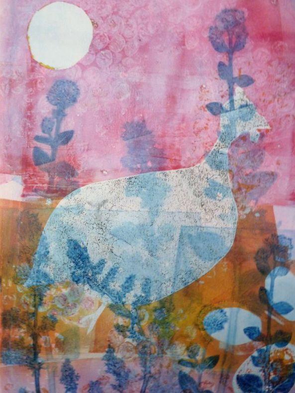 guinea fowl jelly print