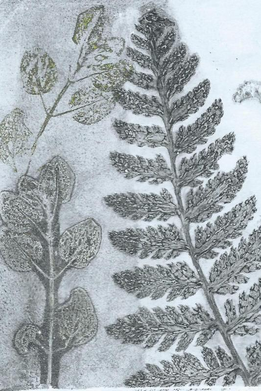 grey jelly print of leaves