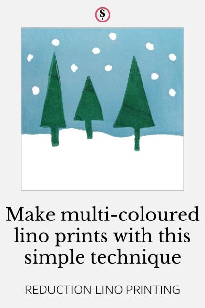 make multi-coloured lino prints