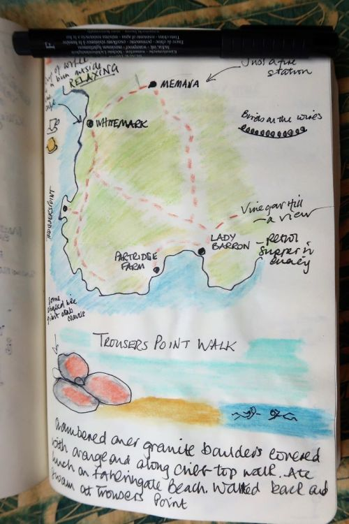 Sketch map of Flinders Island and Trousers Point Walk