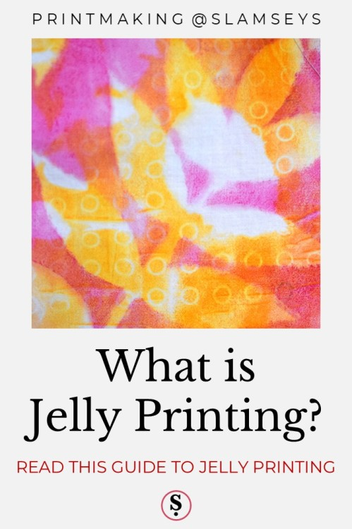 jelly printed fabric in pink, red and yellow of leaves