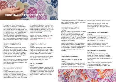 Printing brochure spread