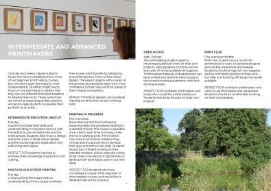 printmaking brochure page