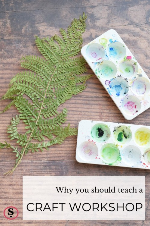 Fern leaf and paint paletes