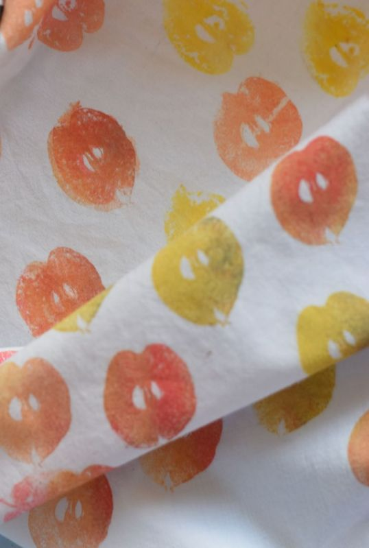 crab apple printing on fabric