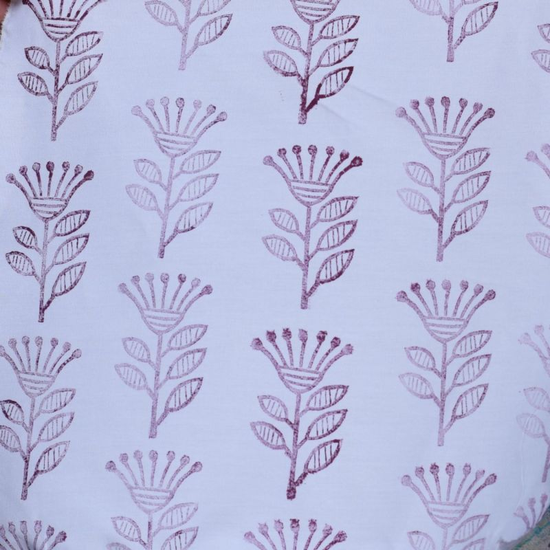 Repeating patttern of plant on fabric