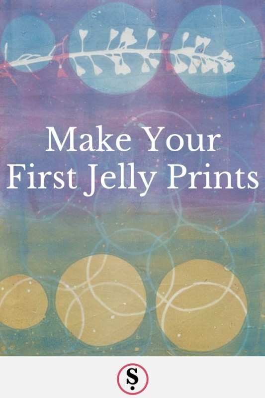 jelly print with text Make Your first jelly prints