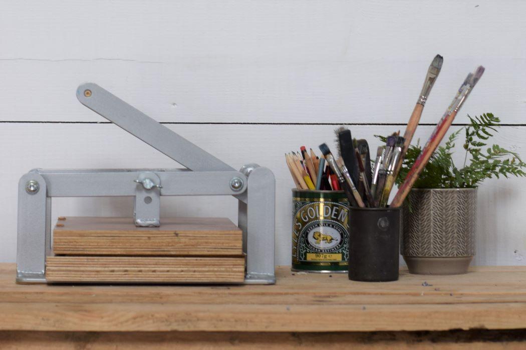 printmaking press and tools