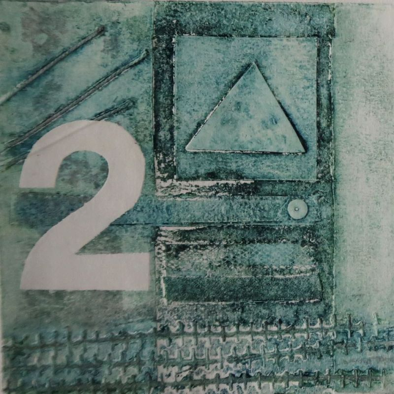 Collagraph 'Electricity Pole 2'