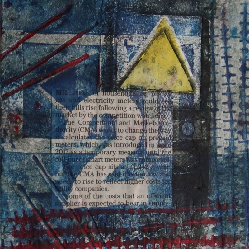 Collagraph 'Electricity Pole 1'