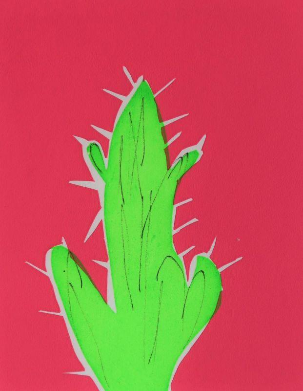 Screenprint of cactus