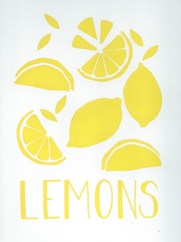 lemons screen print