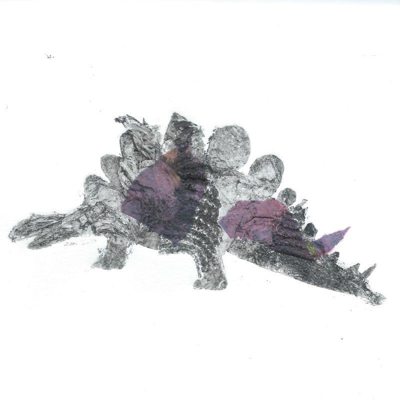 collagraph of stegosaurus