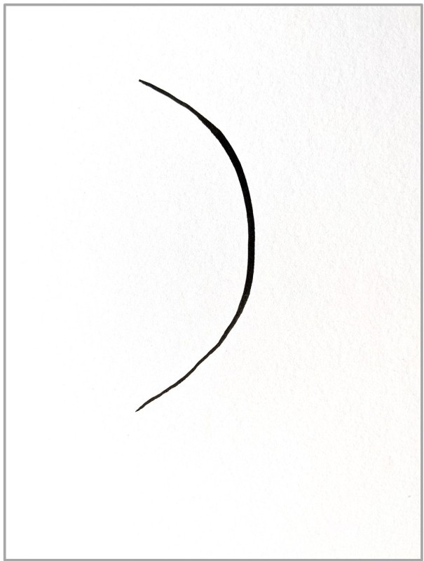 curved line drawn on a card