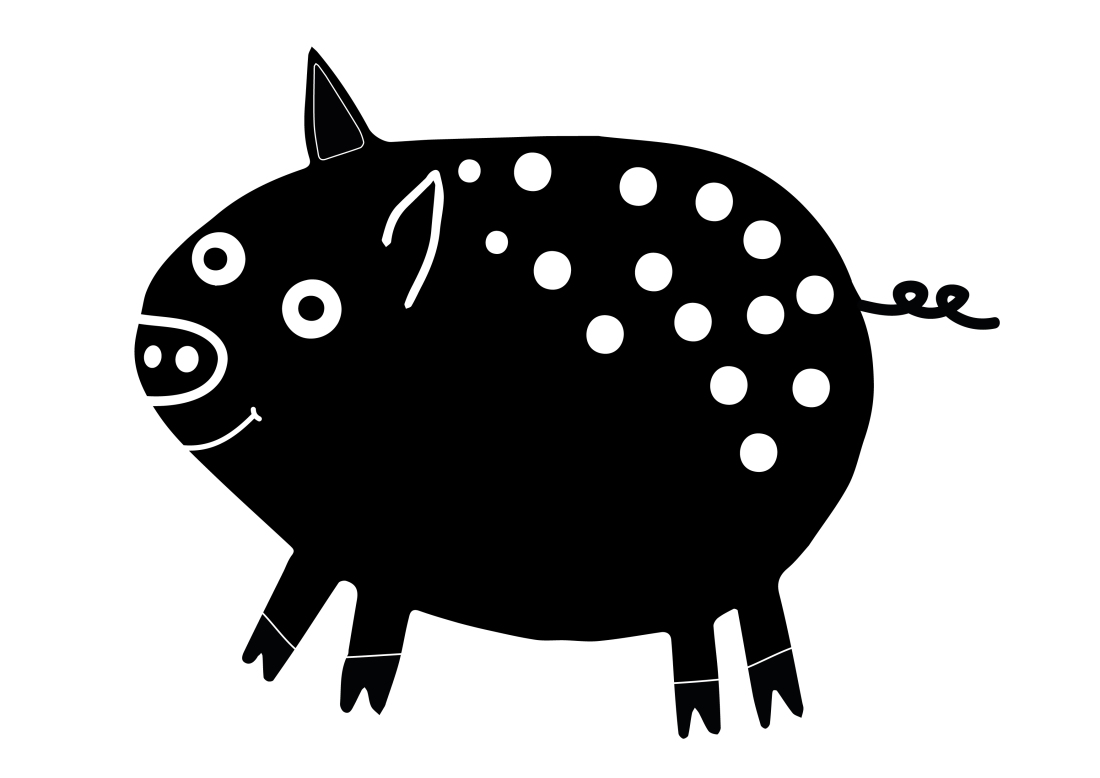 Little spotty pig
